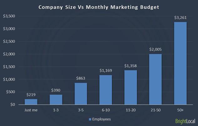 Marketing budget and company size