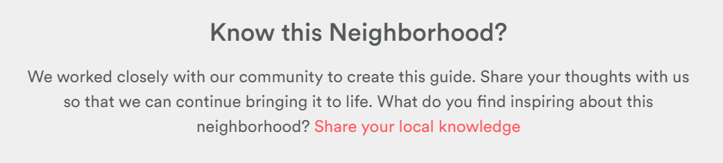 Airbnb Know this Neighborhood