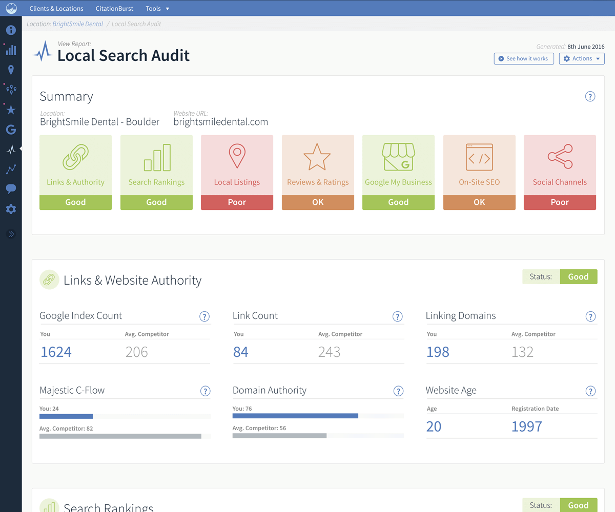 BrightLocal Local Search Audit