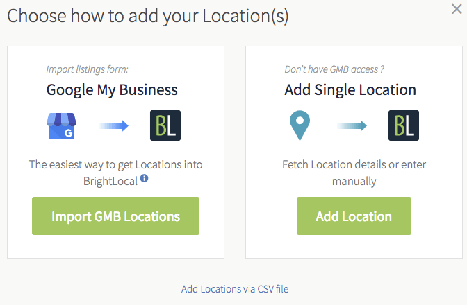 BrightLocal Add Your Locations