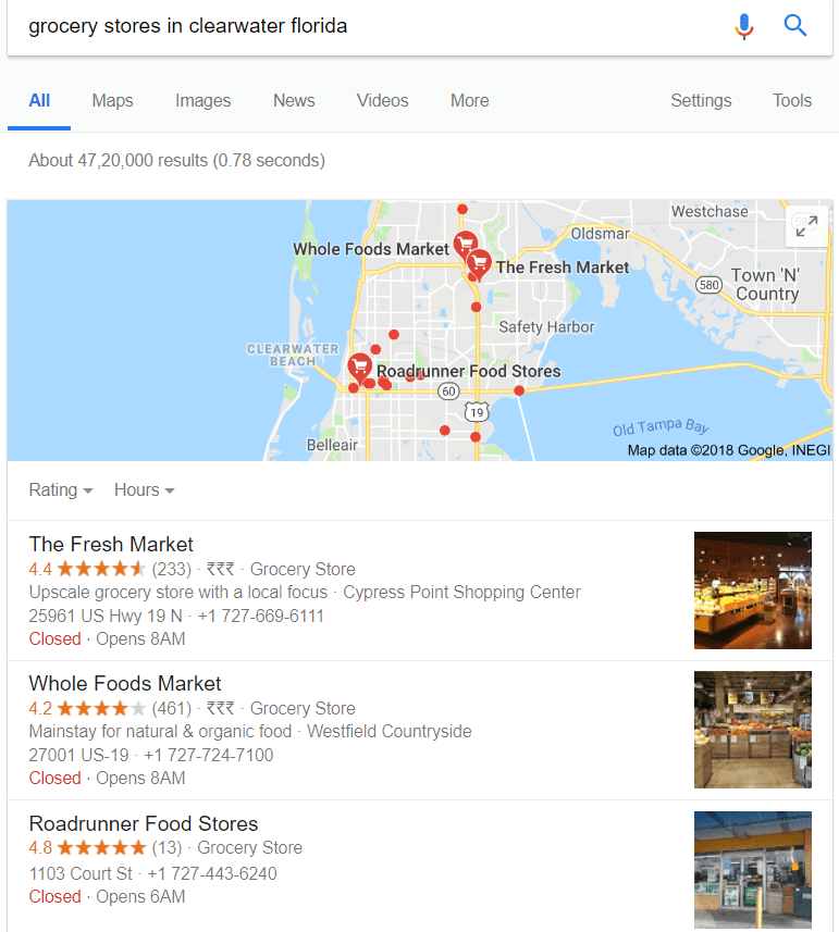 Grocery stores in clearwater florida